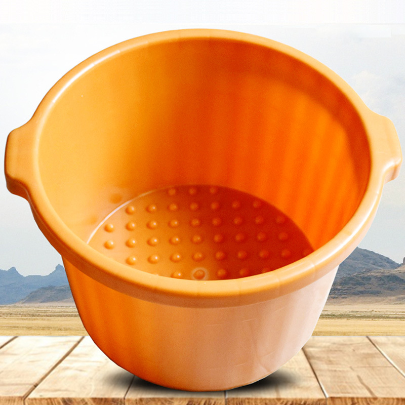 加厚手提按摩足?#35013;?#25705;穴位泡脚桶塑料洗脚桶水桶足浴按摩桶洗脚盆