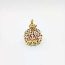 現貨批發創意琺瑯彩皇冠珠寶首飾盒工藝品家居擺設鋅合金婚慶禮品