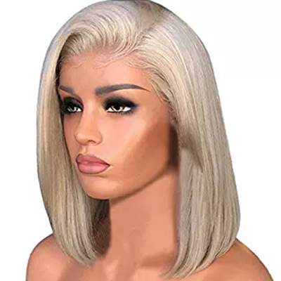 Bob Hair Wigs Perruques Bob Hair Pelucas De Cabello Bob Bobo short straight hair Bobo long light gold wig