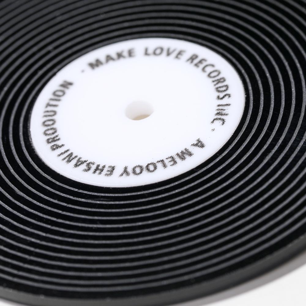 New fashion vinyl record round earrings simple earrings NHXI176917
