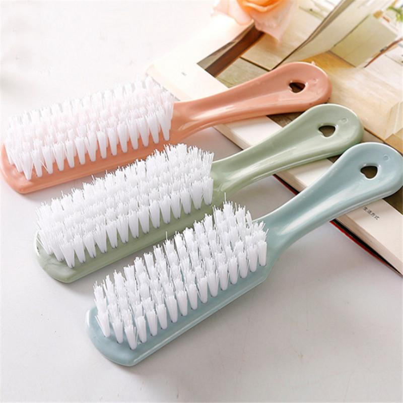 新款素色塑料小刷子鞋子清洁刷软毛洗鞋刷去污洗衣刷衣物清洗刷