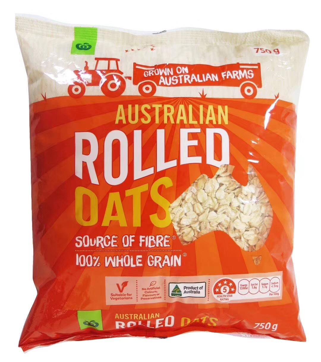 澳大利亚原装进口 沃尔沃斯燕麦片传统燕麦片快熟燕麦片750g*13g