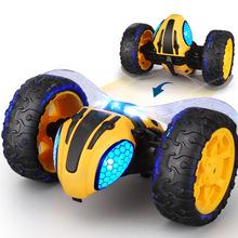 新品爆款閃電黃蜂特技車2.4G遙控車360°翻滾燈光耐摔兒童玩具車