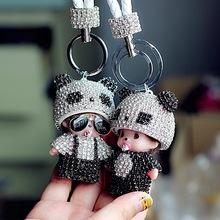 汽车钥匙扣女韩国可爱创意蒙奇奇情侣高档镶钻手机钥匙挂件装饰品