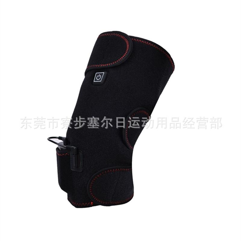 跨境专供中老年老寒腿电热护膝膝盖保暖震动按摩三挡调温加热护膝