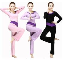 新款瑜伽服套装女春夏莫代尔长袖显瘦健身服跑步运动服宽松三件套