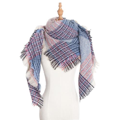 Seasonal loop yarn thickened double-sided tartar scarf scarf for women neck shawl