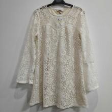 外贸原单女装中长款时尚宽松喇叭袖蕾丝上衣女春夏季