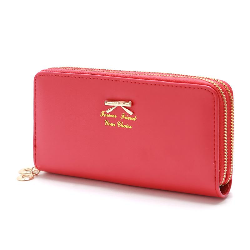 Nihaojewelry wholesale accessories Korean bowknot letter double zipper coin purse  NHLAN388720
