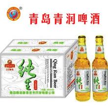 常年供应小瓶啤酒  330ml青岛青润白瓶纯生   物美价廉   质量上