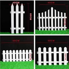 围栏栅栏塑料庭院白色栅栏装饰花园幼儿园圣诞小篱笆花盆