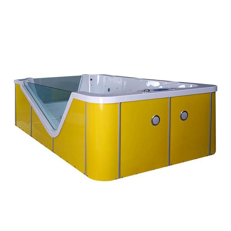 游乐宝室内游泳池设备厂家供应亚克力亲子水育拼接滑梯儿童游泳池