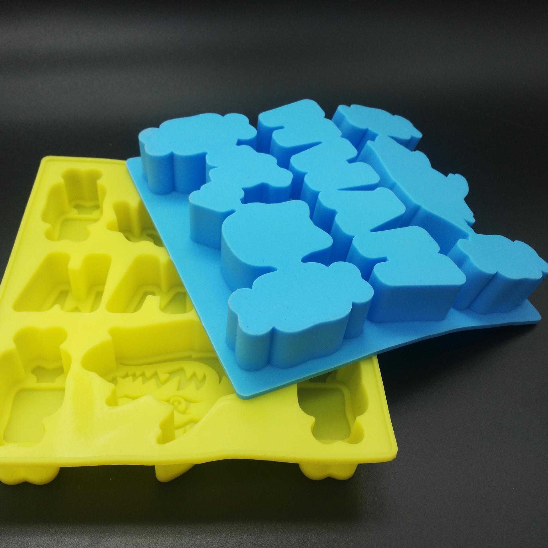 定做食品级硅胶冰格 硅胶冰块模具 定制形状冰格方形硅胶冰块模具