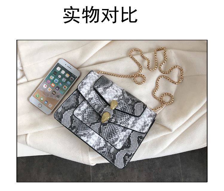 New snakeskin pattern portable cross-body bag texture fashion wild shoulder chain bag women NHTC185297