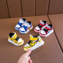 儿童运动鞋男童卡通板鞋0-1-3岁宝宝婴儿学步鞋女童单鞋2019秋款2