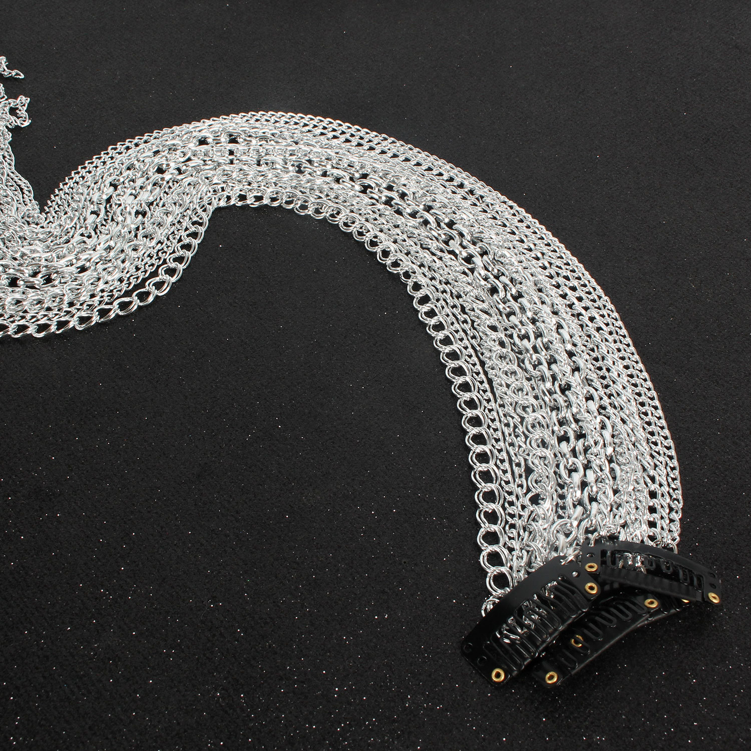 Womens U-shaped aluminum plated simple Hair Accessories NHCT141853