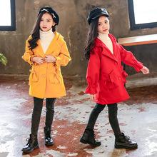 双面尼女童秋冬2018新款呢子外套儿童中长款秋装中大童毛呢大衣