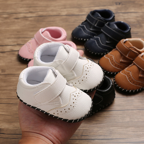 Month old baby s shoes with rubber soft soles and antiskid baby walking shoes