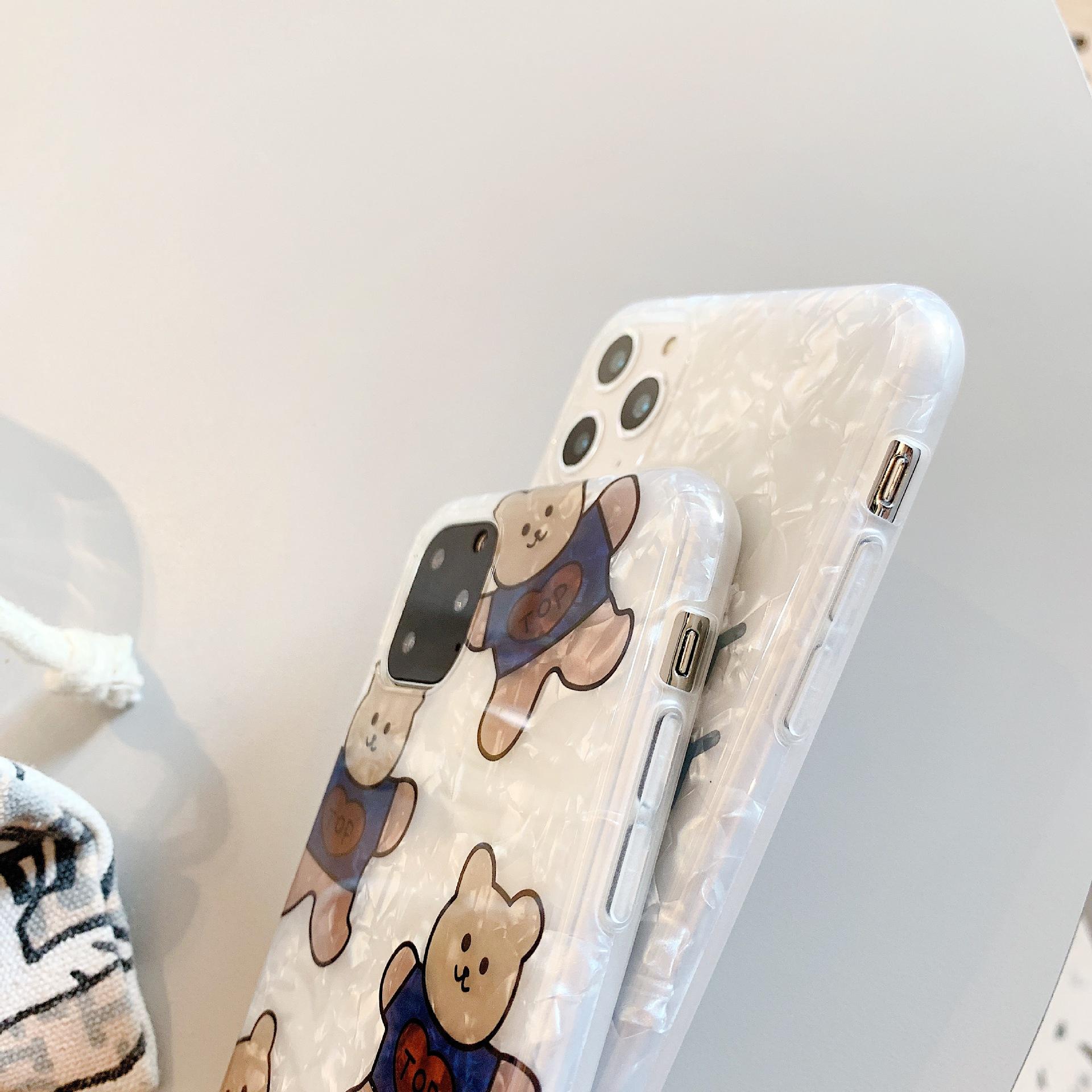 Cartoon cute bear iPhone 7plus shell mobile phone case NHDV157774