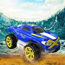 银辉水陆变形大轮车 大号儿童rc四驱遥控车男孩特技越野赛车玩具