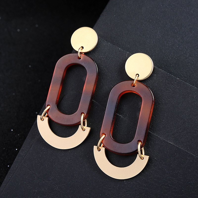 Alloy Fashion Geometric earring  (Photo Color)  Fashion Jewelry NHQD6248-Photo-Color