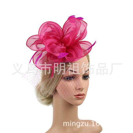 Châu Âu và Mỹ tiara retro cô dâu lưới gạc phụ kiện tóc lông kẹp tóc headband hoang dã phụ kiện sườn xám Băng tóc