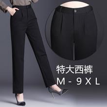 1868夏季 薄款 休闲胖MM阔腿裤女加长裤大码显瘦宽松职业西裤韩版