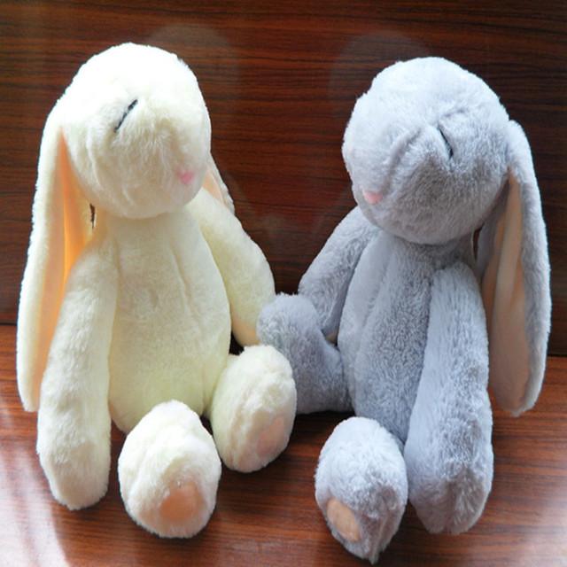 萌萌哒邦尼兔短毛绒玩具 兔子玩偶公仔 大耳朵节日生日礼物