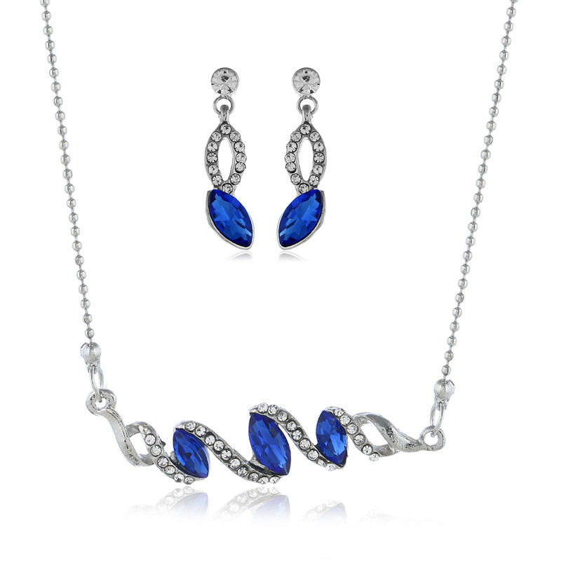 Womens Inlaid Imitated crystal Alloy Jewelry Sets NHBQ127834