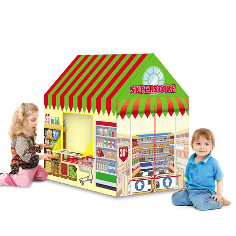 خيمة قابلة للطي برسوم كرتونية للأطفال ، لعبة كرة محيط داخلية للأطفال ، لعبة منزل شرطة النار