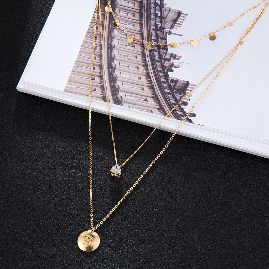 Womens teardrop electroplated alloy Necklaces NHGY125519