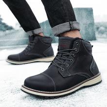 2019冬季男士工装马丁鞋男靴子韩版潮流短靴中帮百搭男鞋高帮棉鞋