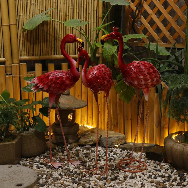 户外火烈鸟仿真动物摆件婚庆装饰品庭院水池摆设园林景观造景