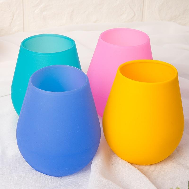 厂家供应创意硅胶红酒杯便携式旅行茶水杯耐高温易携带批发优惠