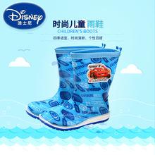 廠家直銷迪士尼兒童三色單雨靴 男女童雨靴水鞋 寶寶防滑小孩膠鞋