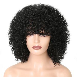 Curly Hair Wigs Parrucche per capelli ricci Women pelucas headgear African curly wig African headgear rose net wig