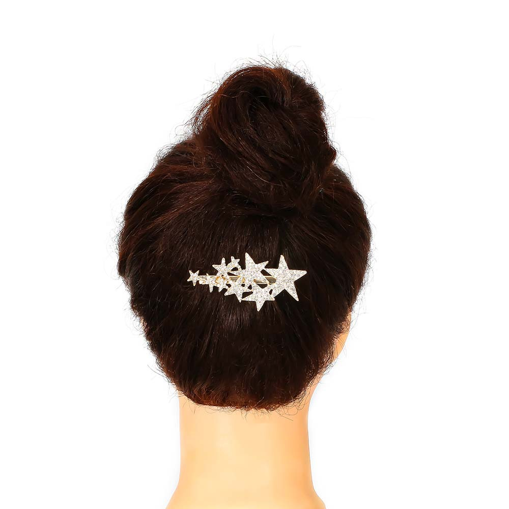 Alloy diamond five-pointed star hairpin flash diamond star hairpin NHHN155499