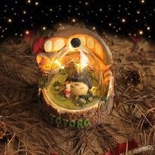 可愛龍貓擺件 少女森系家居裝飾小夜燈創意禮品男女生生日禮