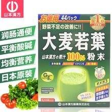 日本山本汉方大麦若叶青汁3g*44支/盒麦苗粉末果蔬膳?#35802;?#32500;代餐粉