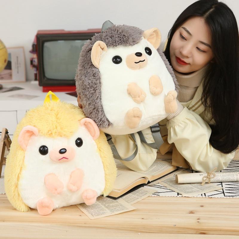 厂家直销学生超萌刺猬书包毛绒玩具公仔个性幼儿园可爱动物包包