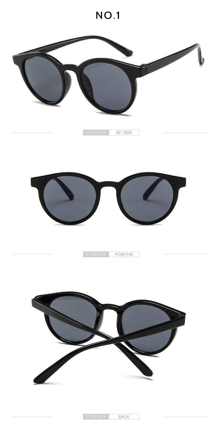 Cute round frame childrens sunglasses parentchild glasses baby sunglasses wholesale nihaojewelry NHBA224746