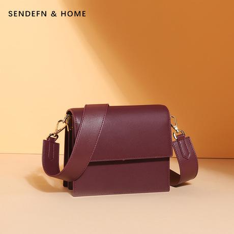 Túi xách da 2019 túi xách nữ mới Túi xách nhỏ vuông vuông Phiên bản Hàn Quốc của túi đeo vai thời trang hoang dã một thế hệ