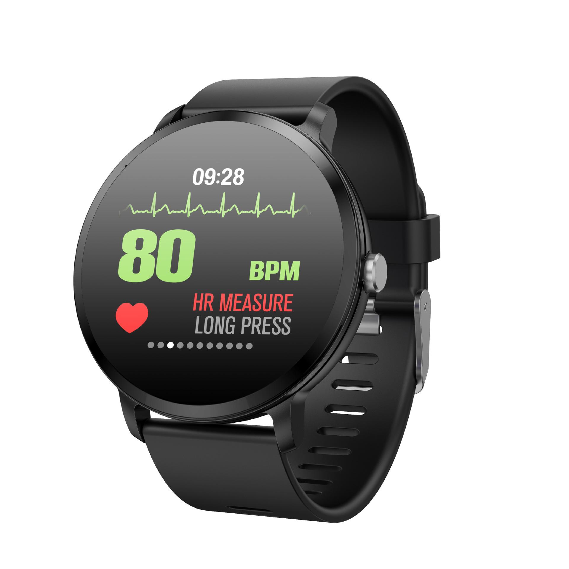 跨境电商爆款私模专利V11智能手表手环1.3寸圆屏彩屏心率运动手环