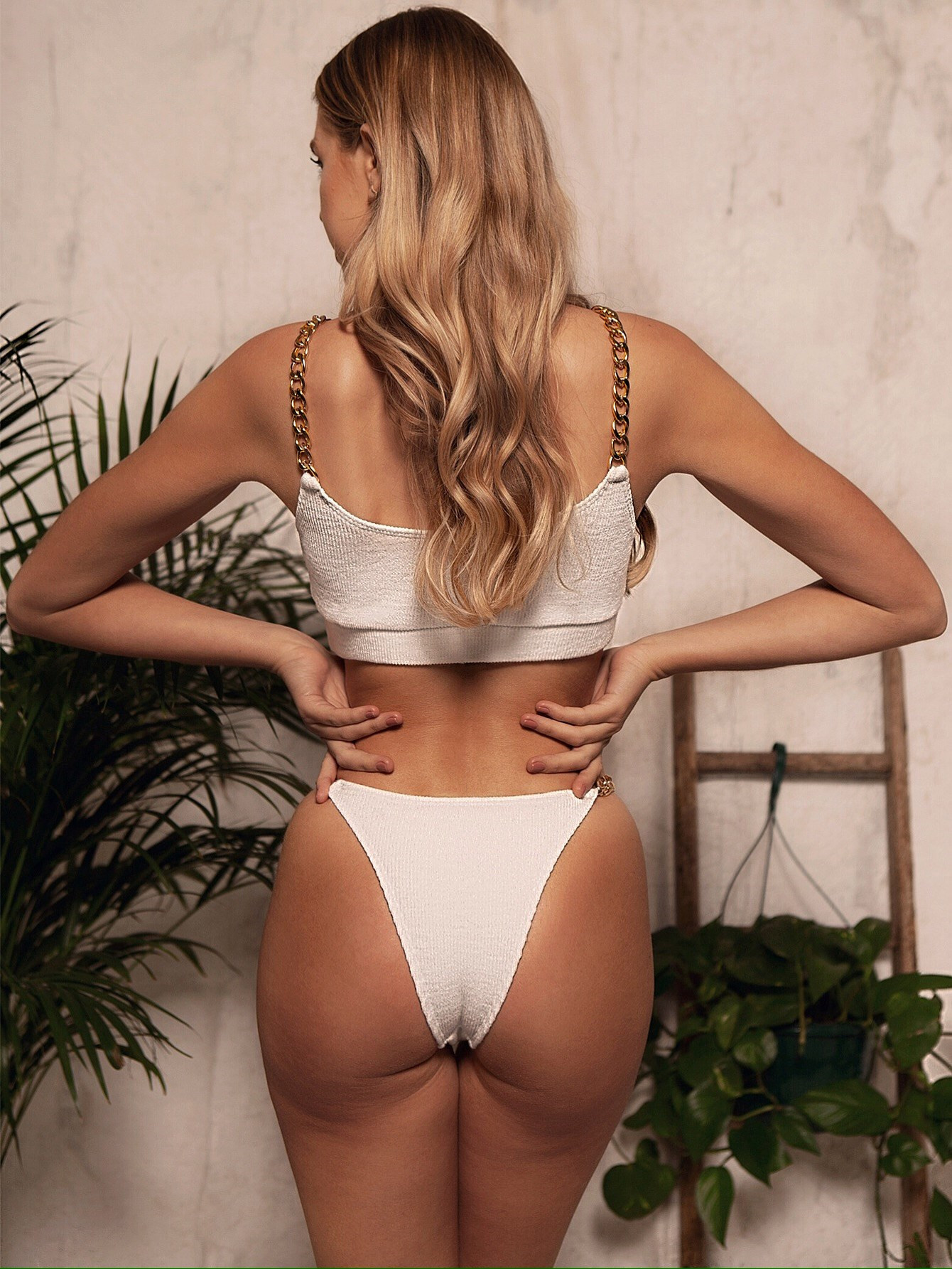 hot style bikini split swimsuit chain swimsuit  NSDA541