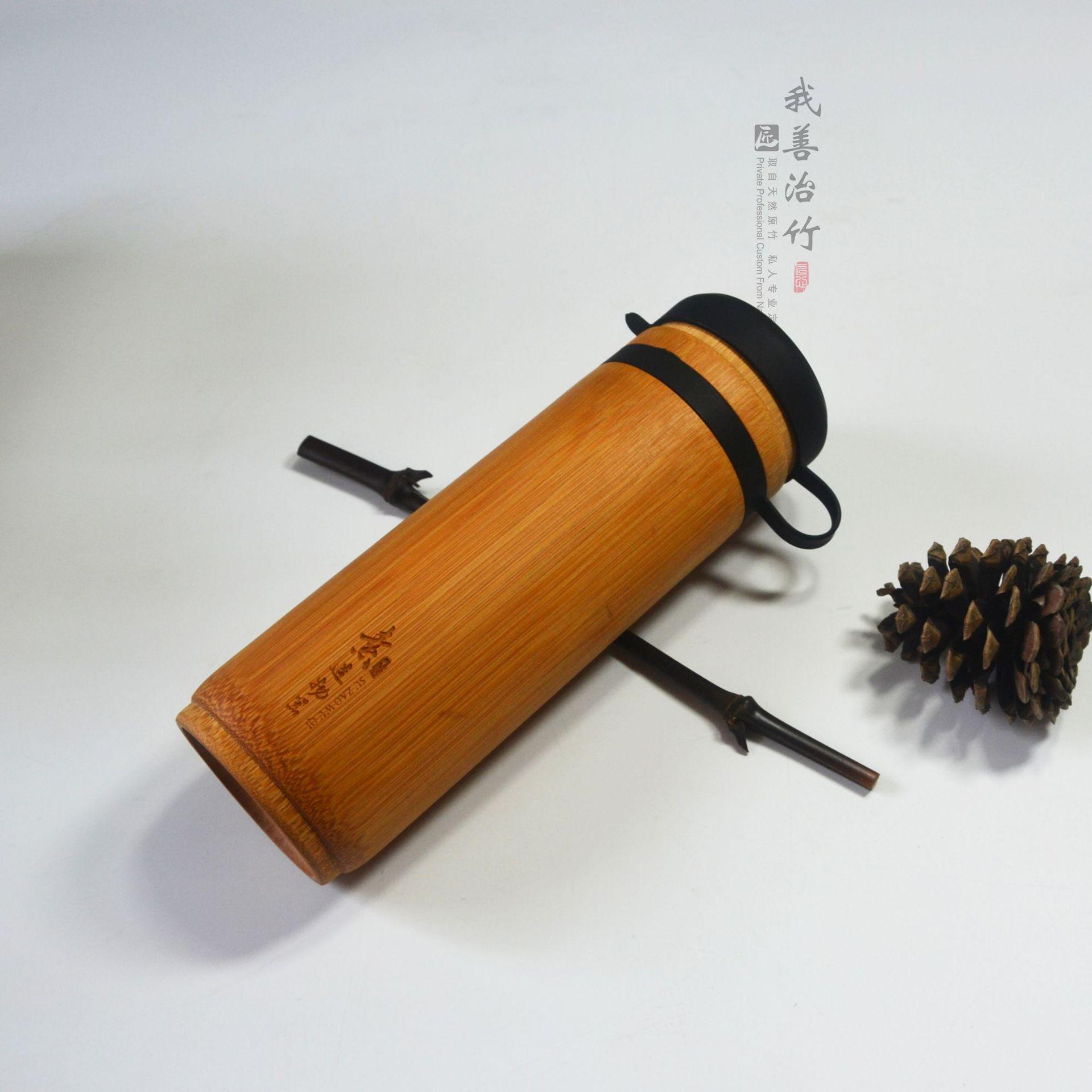 厂家直供竹杯竹水杯竹茶杯运动竹杯车载竹子杯天然外贸出口定制