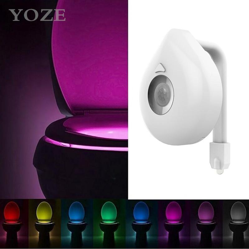New 8 color toilet light toilet light hu...