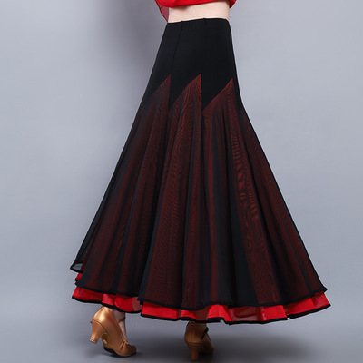 ballroom dance skirts tango dance skirts for women Modern dance skirt Waltz national standard dance practice dress