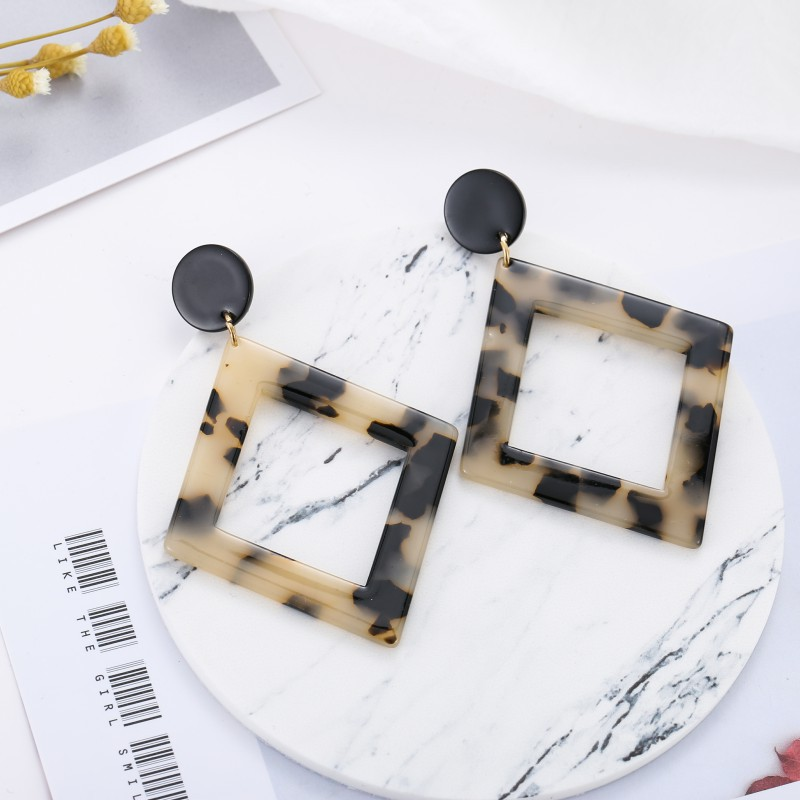 Plastic Fashion Geometric earring  (De0174-1)  Fashion Jewelry NHSD0542-De0174-1