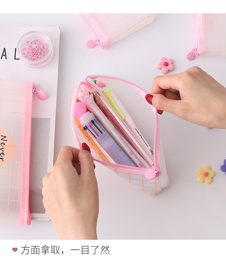 Creative minimalist pencil bag girl cute stationery bag student stationery NHZE193813