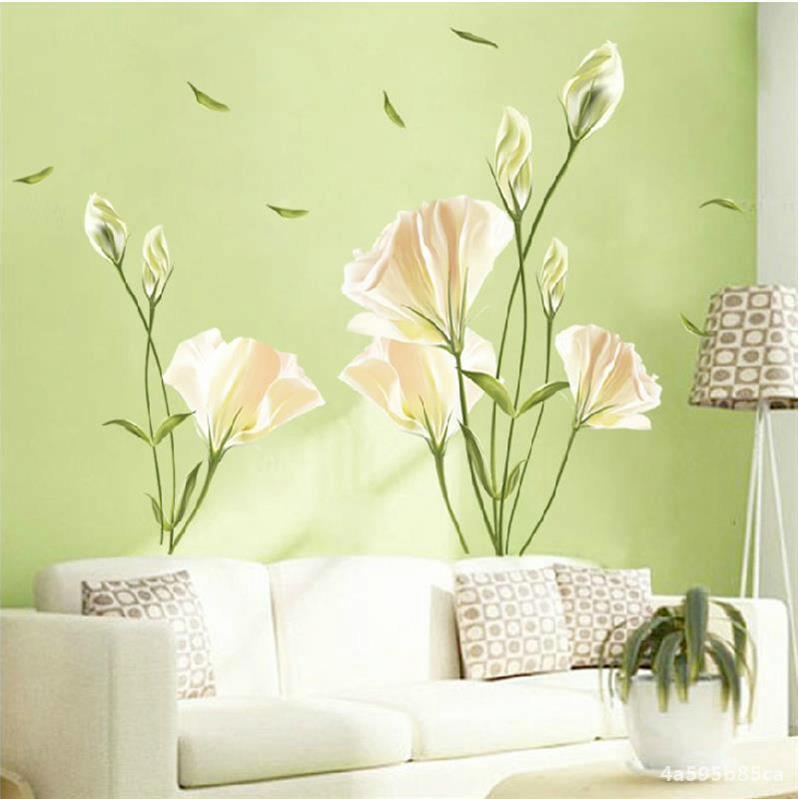 潮流墙面整张卧室墙贴画小清新图片墙纸立体装饰品自粘墙画墙花